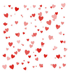 happy valentines day background with hearts eps10 vector image