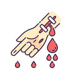Hemophilia rgb color icon vector