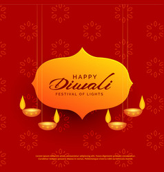 Indian diwali festival greeting card design with vector