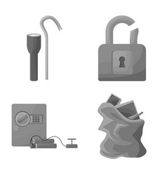 Isolated object pickpocket and fraud logo set vector