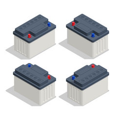 Isometric car battery icon isolated on white vector