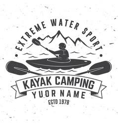 Kayak camping vector