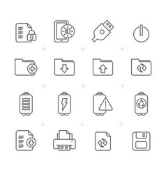 line internet web and mobile icons vector image
