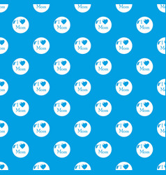 love mother pattern seamless blue vector image