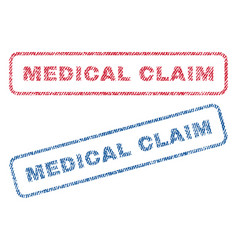 Medical claim textile stamps vector