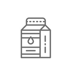 milk kefir in paper box line icon vector image