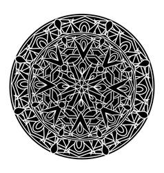 Monochrome decorative design element vector