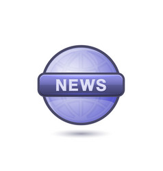 news media icon on white background vector image