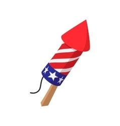 Party popper in in the American flag colors icon vector
