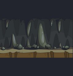 Seamless of the cave vector