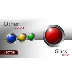 set buttons for web design vector image