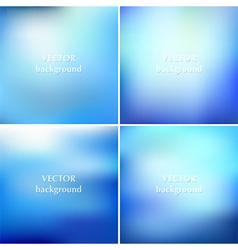 Set of abstract colorful blurred aqua water vector image