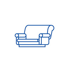 sofa isometric line icon concept sofa isometric vector image