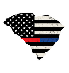 state south carolina police and firefighter vector image