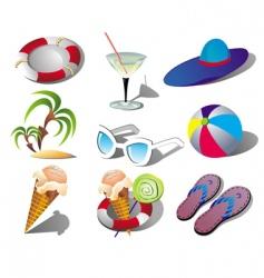summer beach travel clip art vector image