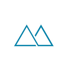 Thin line abstract mountain symbol vector