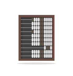 Traditional wooden abacus isolated on white vector image