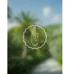 Tropical yoga realistic banner with mandala vector