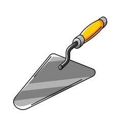 Trowel housing construction item vector