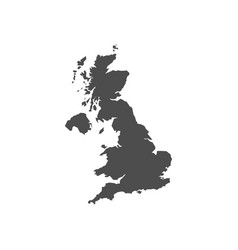 united kingdom black blank map vector image
