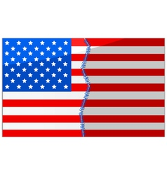 USA divided and stitched vector