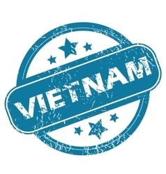 VIETNAM round stamp vector image