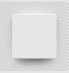 white box mock up model 3d top view model vector image