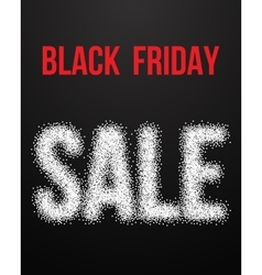 Black Friday Sale Poster with Blackwork vector image
