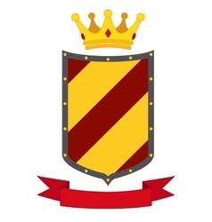 Heraldic premium quality emblems flat set with vector image