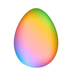 Rainbow minimalistic easter egg over white mesh ve vector image vector image