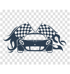 sports cars silhouette vector image vector image