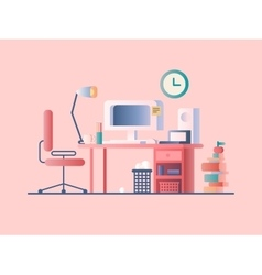 Workplace design flat vector image vector image