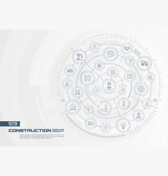 abstract construction technology background vector image vector image