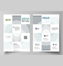 Business templates for brochure flyer report vector