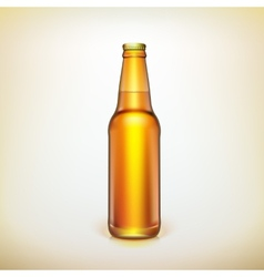 Glass beer brown bottle Product packing vector image
