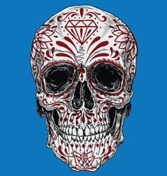 Realistic day of the dead sugar skull vector