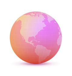rose globe vector image vector image