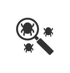 search bug icon vector image vector image