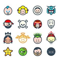 Social characters II vector image vector image
