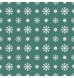 Christmas white snowflakes seamless green vector image vector image