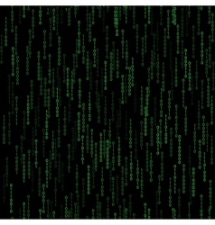 dark green seamless pattern with binary code vector image vector image