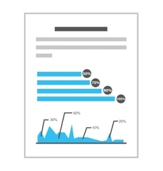 documents with statistics isolated icon design vector image