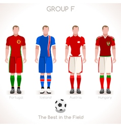EURO 2016 GROUP F Championship vector image vector image