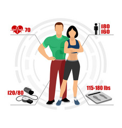 infographics healthy body vector image