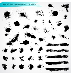 Set of Grunge Design Elements vector image vector image