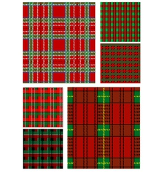 set of tartan texture vector image
