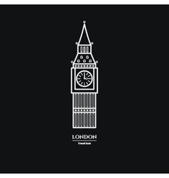 Big Ben Icon 1 vector image