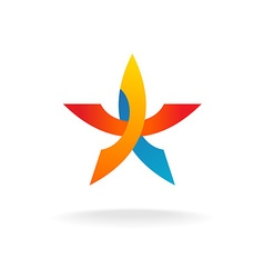 Colorful star logo vector image