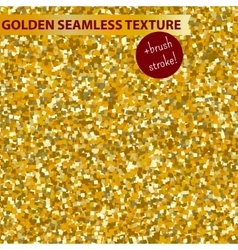 Gold seamless glitter texture pattern for vector image