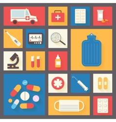 Medical icons set Ambulance and pharmacy vector image